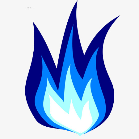 Flames blue. Flame clipart station