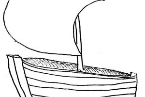 boat clipart black and white 3
