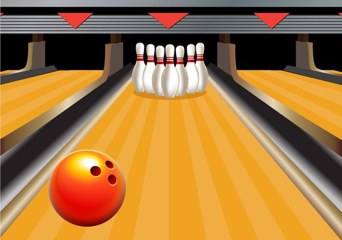 Bowling alley. Clipart station
