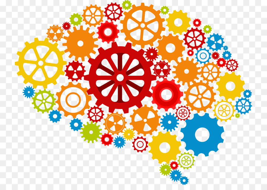 Brain gears. Thinking clipart station