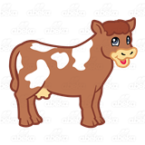 brown cow clipart 3