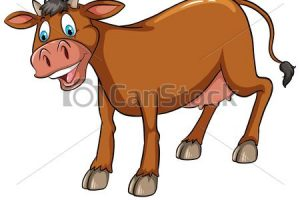 brown cow clipart 4