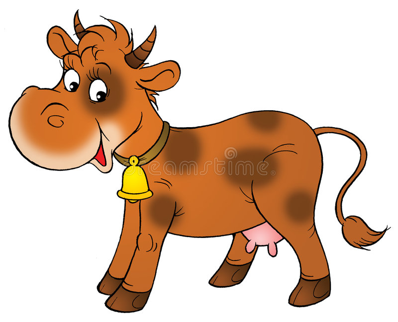 Cow brown. Clipart station