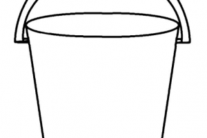 bucket clipart black and white 2