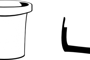 bucket clipart black and white 3