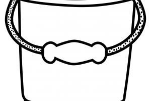 bucket clipart black and white 4