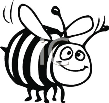Bumble bee black and white clipart » Clipart Station