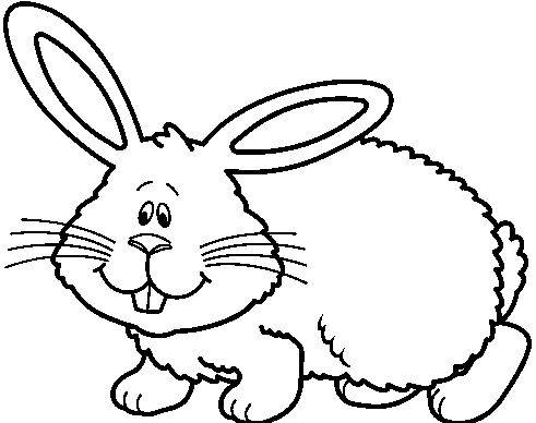 Bunny black and white. Clipart station