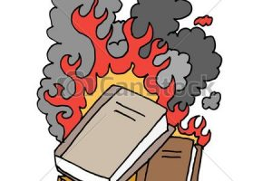 burning books clipart 2