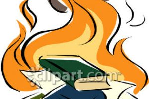 burning books clipart
