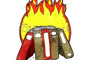 burning books clipart 4