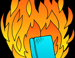 burning books clipart 6