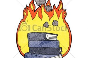 burning books clipart 8