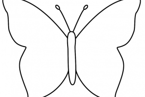 butterfly clipart outline 1