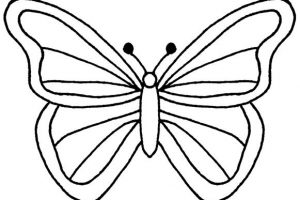 butterfly clipart outline 3