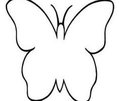 butterfly clipart outline 4