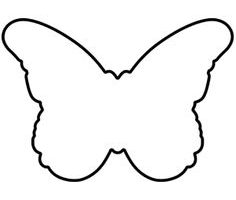 butterfly clipart outline 5
