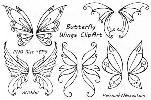 butterfly wings clipart 4