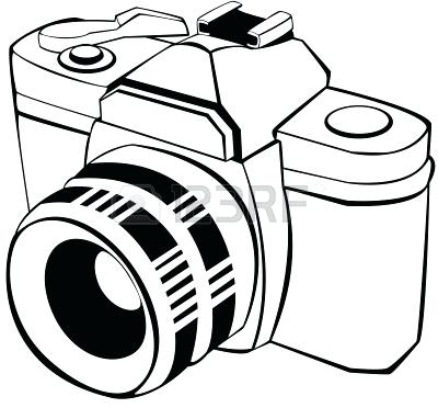 Camera white. Black and clipart station