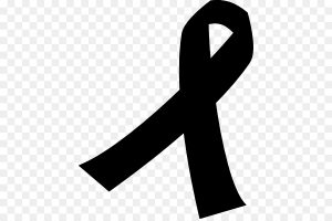 cancer ribbon black and white clipart 3