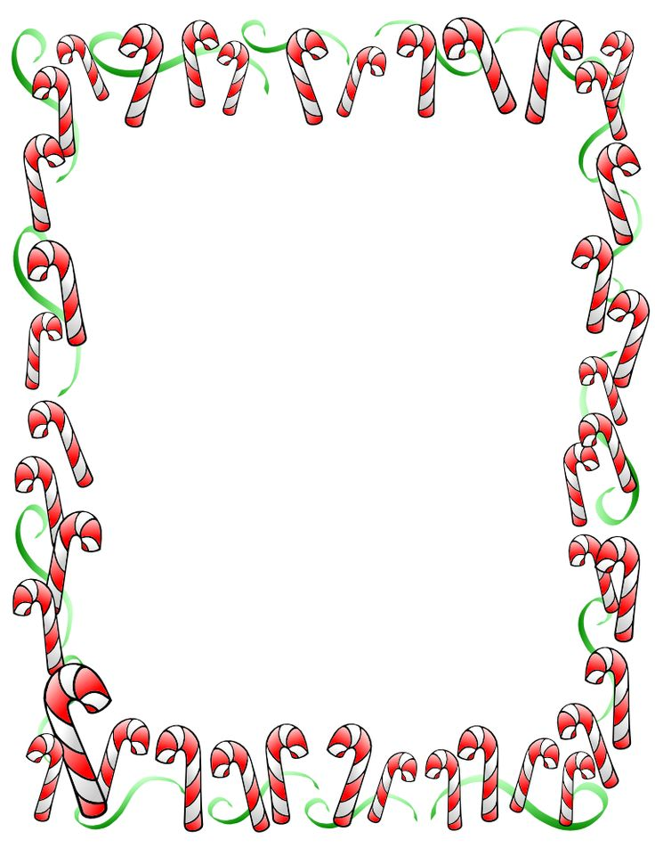 Candy cane border. Clipart station