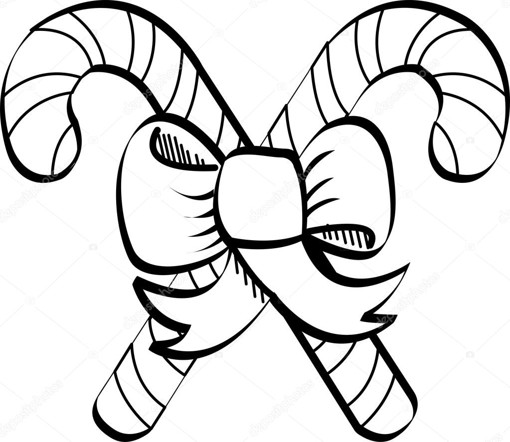Candy Cane Clipart Black And White Unique Candy Cane Clipart Line