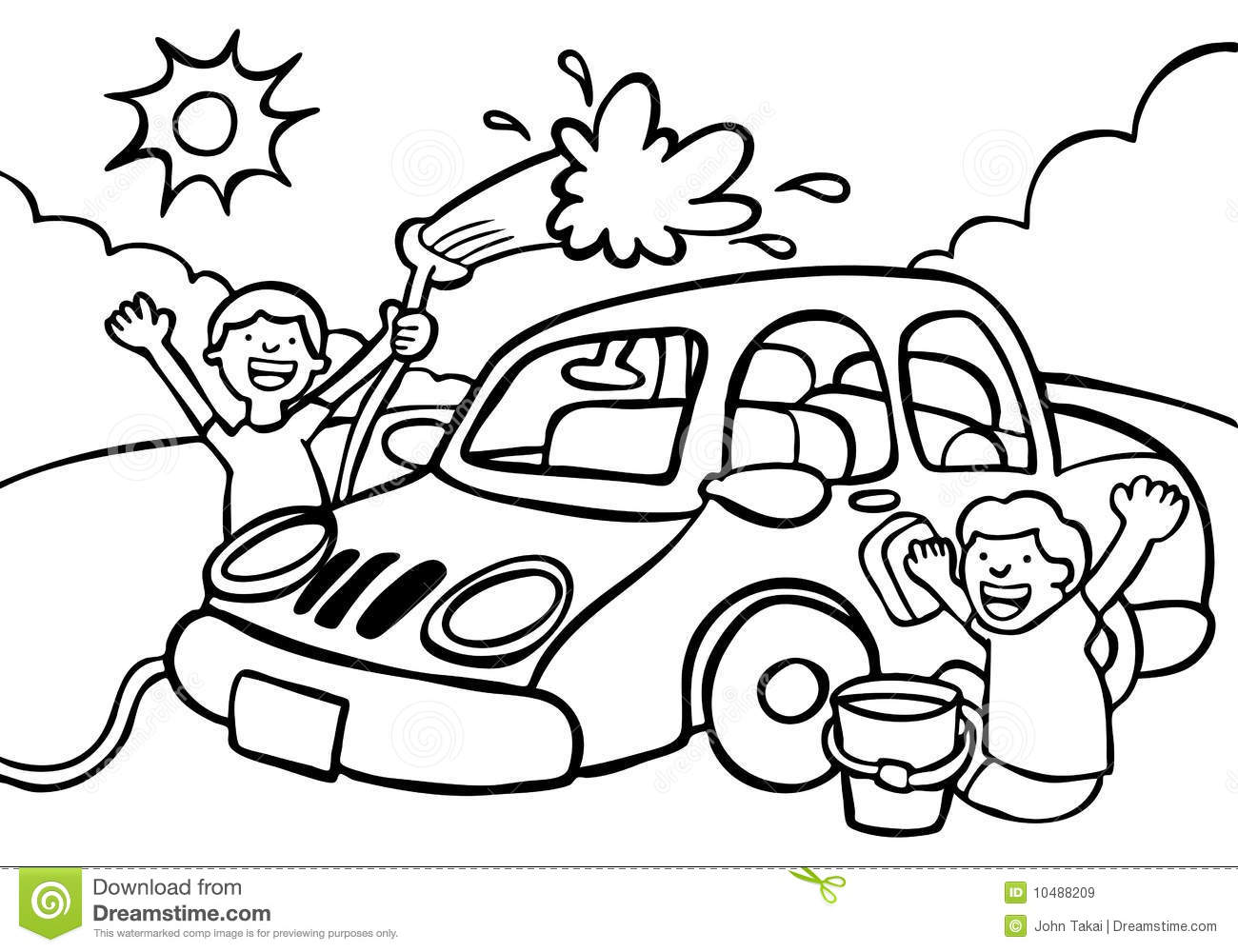 Car Wash Clipart Black And White 4 Clipart Station