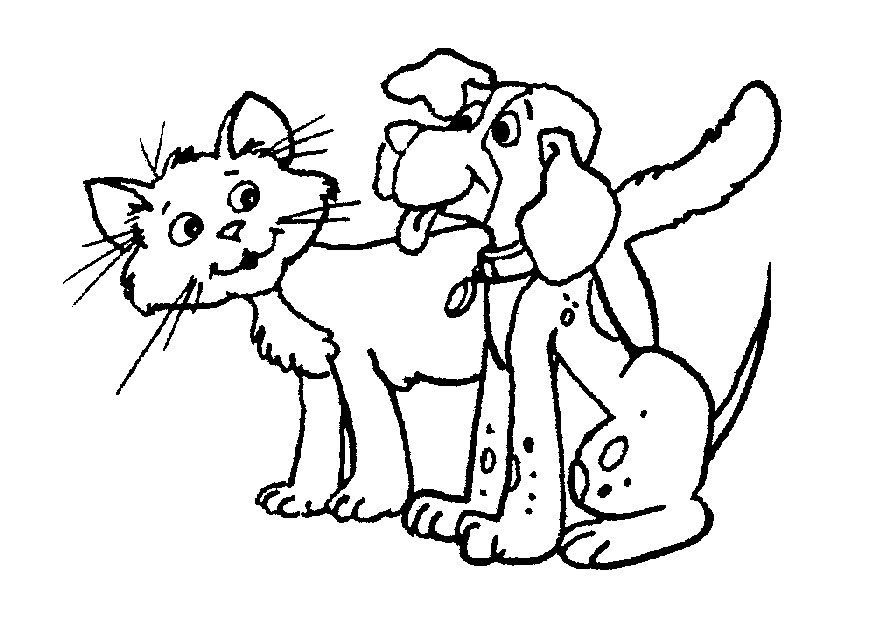 Cat And Dog Clipart Black And White 2 Clipart Station