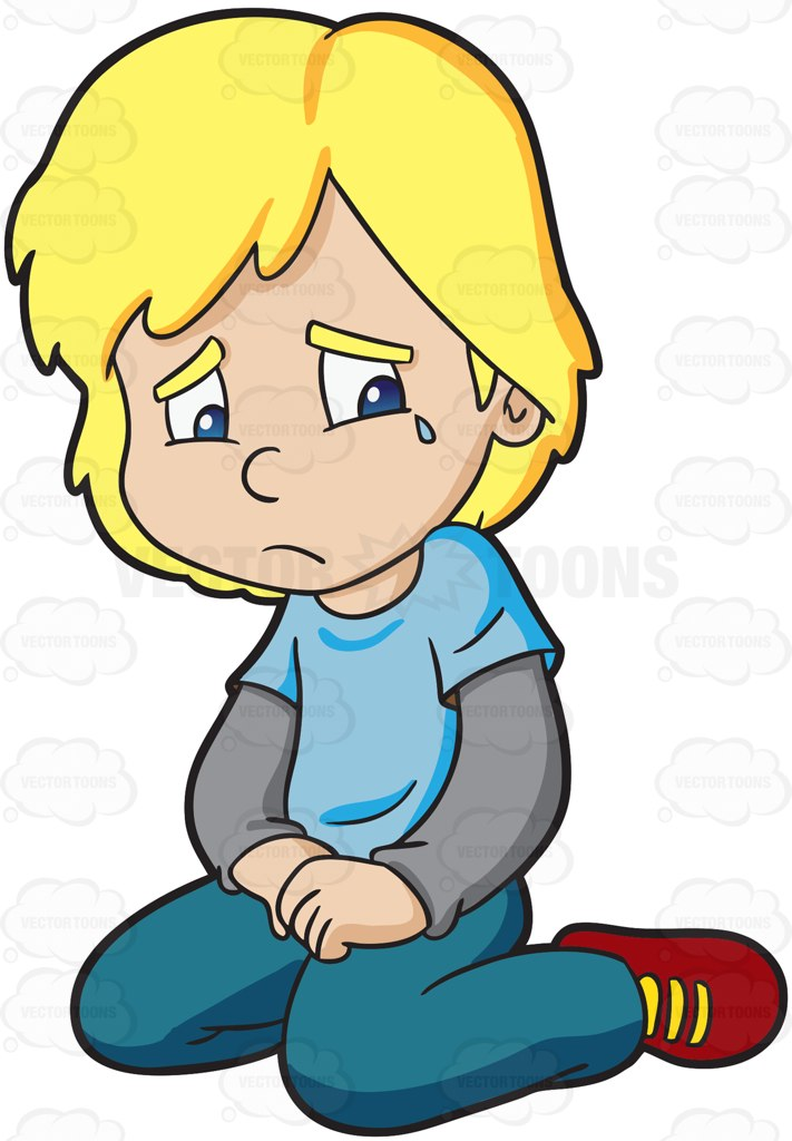 A Man Crying Silently and A City Street Corner Background – Clipart  Cartoons By VectorToons