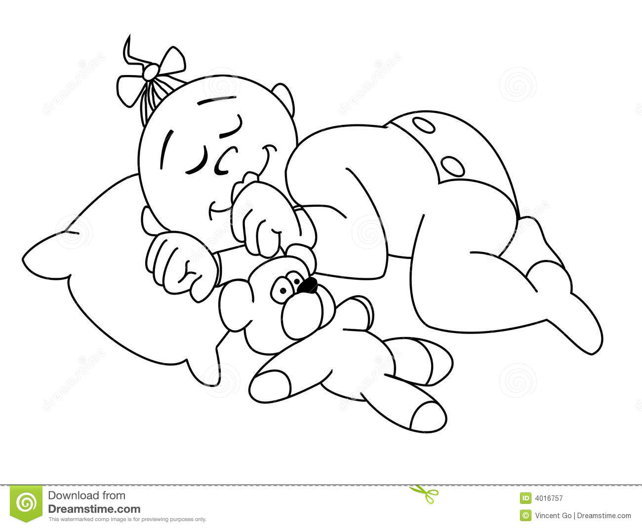 Child sleeping clipart black and white 3 » Clipart Station