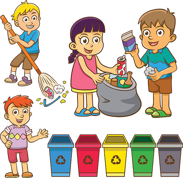 Children Cleaning The School Clipart Clipart Station