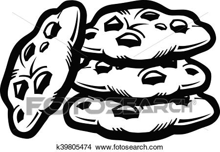 Chocolate Chip Cookies Clipart Black And White 5 Clipart Station