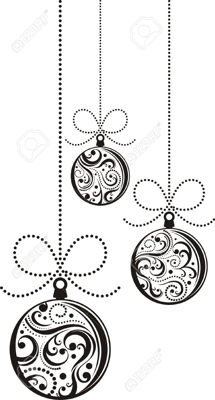 Christmas Balls Clipart Black And White.Christmas Balls Clipart Black And White 2 Clipart Station