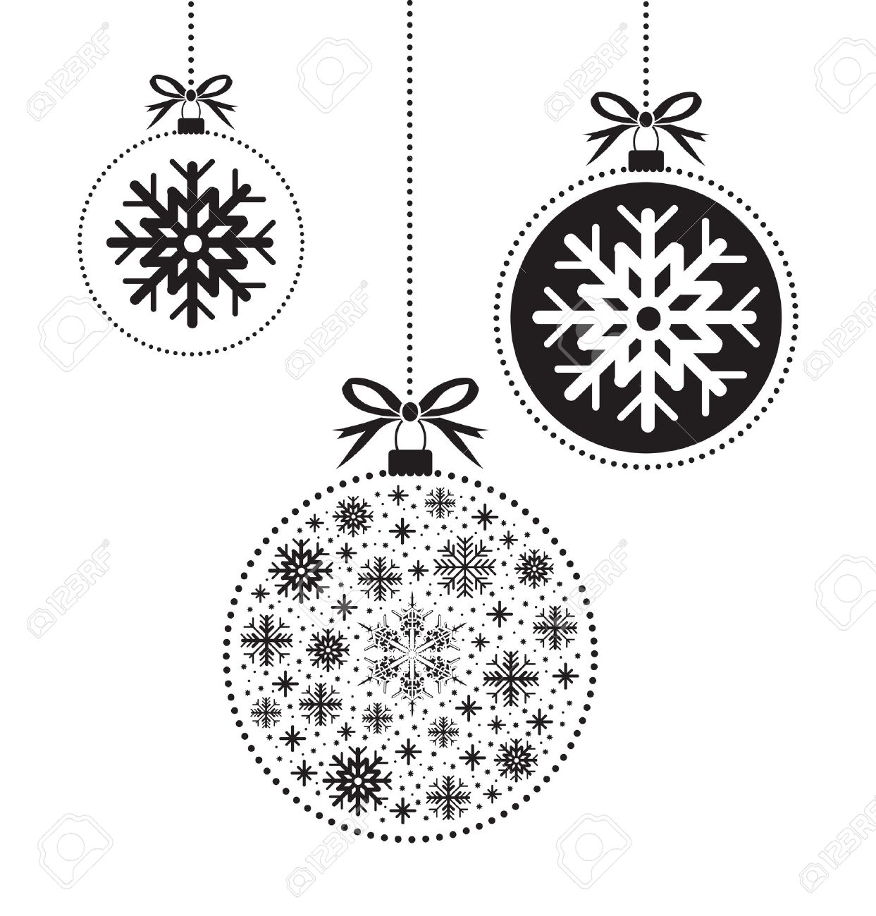 Christmas Balls Clipart Black And White.Christmas Balls Clipart Black And White 6 Clipart Station
