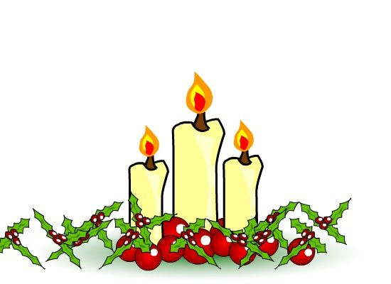 Advent christmas eve. Candlelight service clipart station