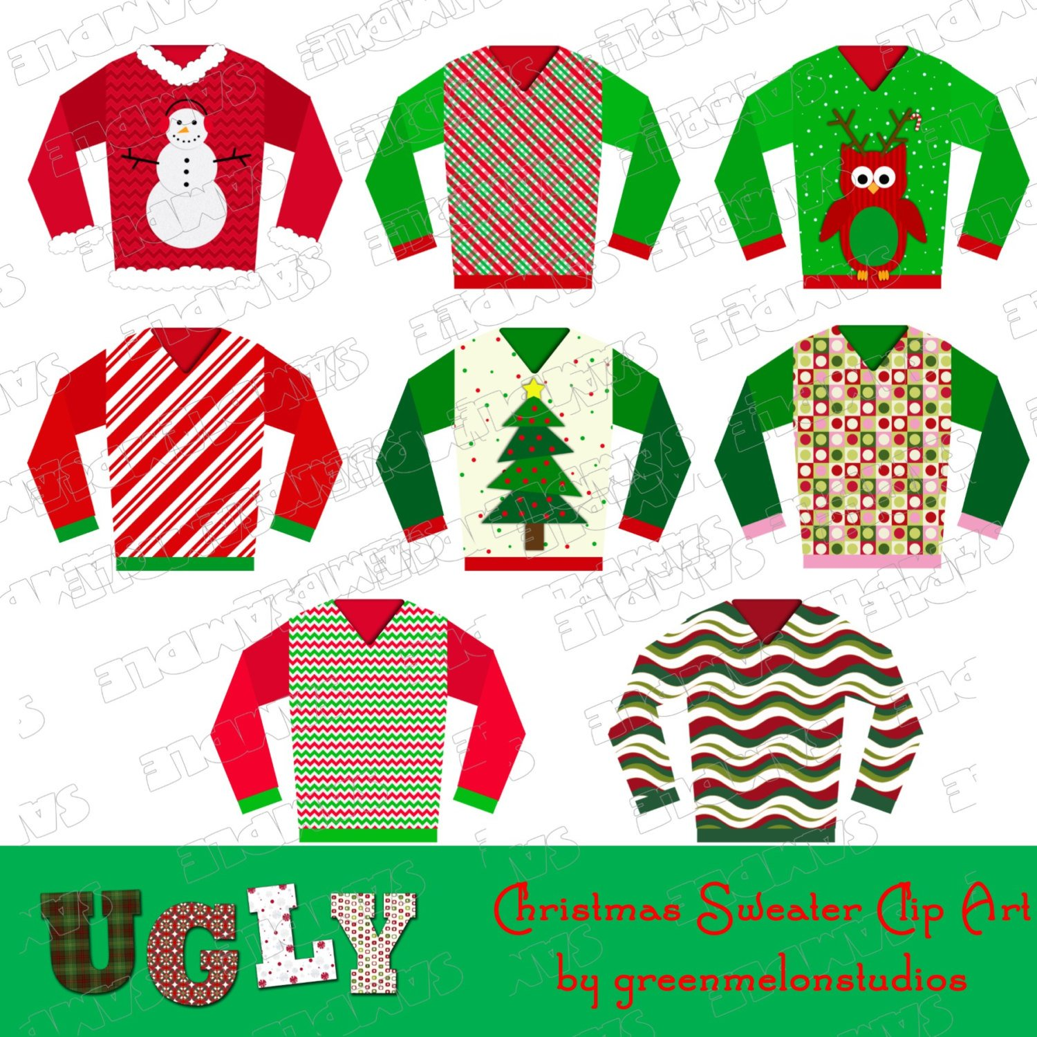Christmas Sweater Clipart.Christmas Sweaters Clipart 7 Clipart Station