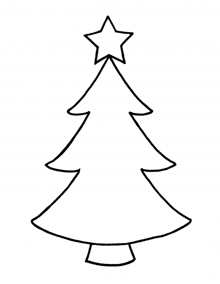 Christmas tree clipart outline 1