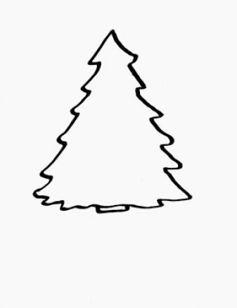 Christmas tree clipart outline