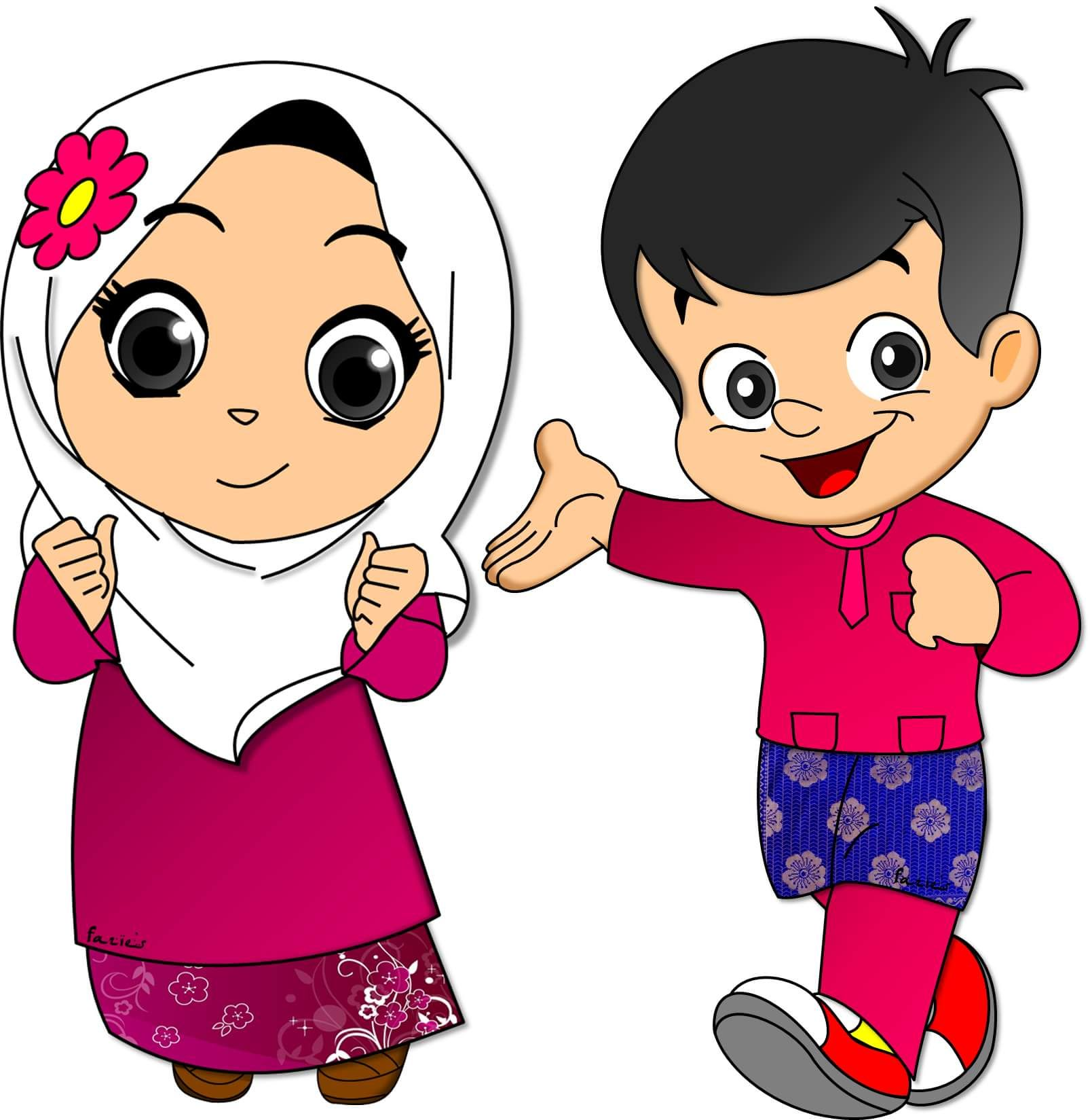 Clipart Anak Muslim Clipart Station