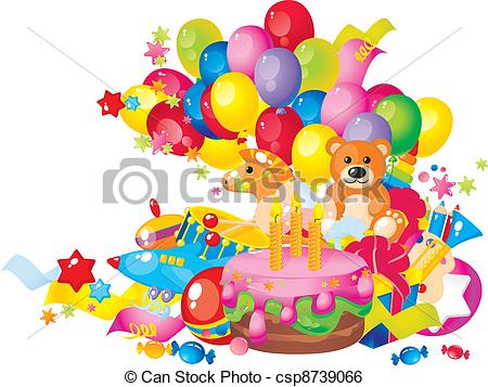Wondrous Clipart Birthday Cake And Balloons 2 Clipart Station Birthday Cards Printable Trancafe Filternl