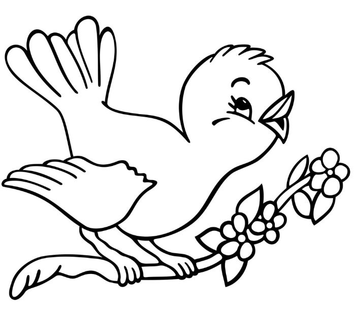 Clipart black and white bird 1 » Clipart Station