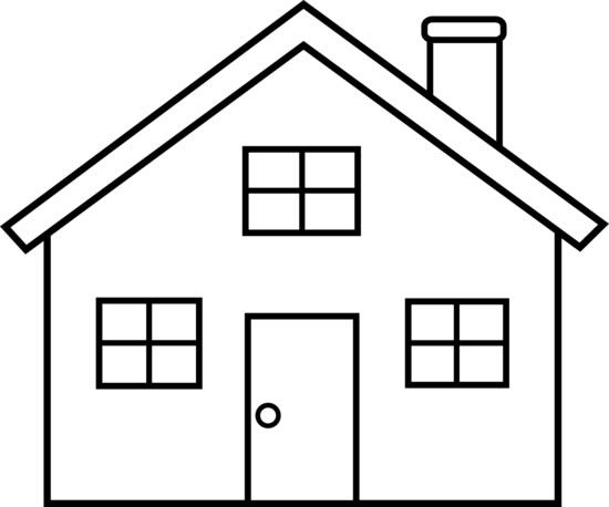 clipart black and white house 1 clipart station rh clipartstation com school house clipart black and white clipart black and white house