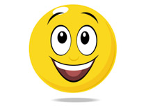 Smiley face character surprise expression clipart