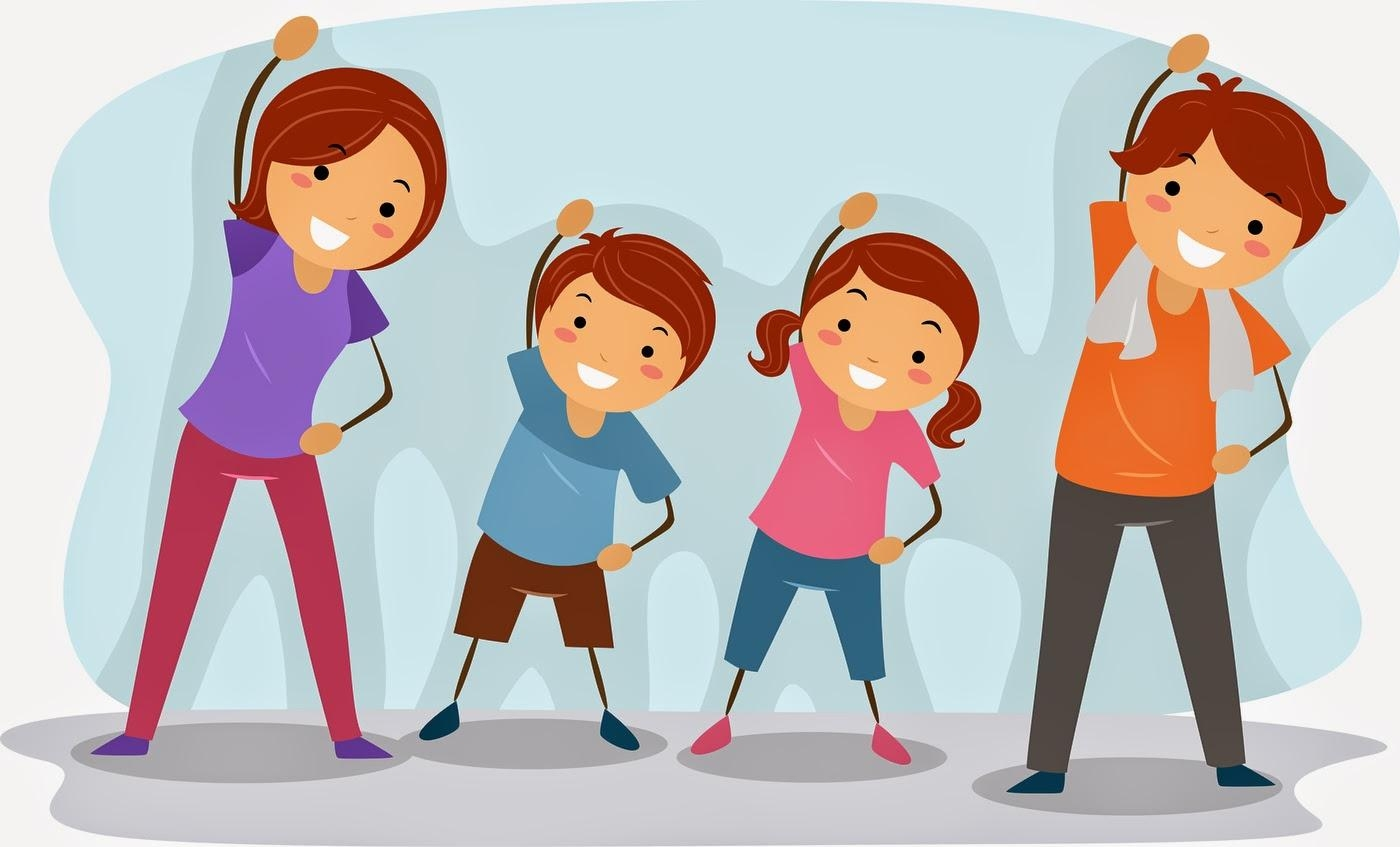 Exercise clipart Awesome Best Fitness Family Exercise Clipart ...