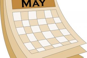clipart may calendar 3
