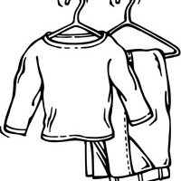 Clothing clipart black and white 4 » Clipart Station
