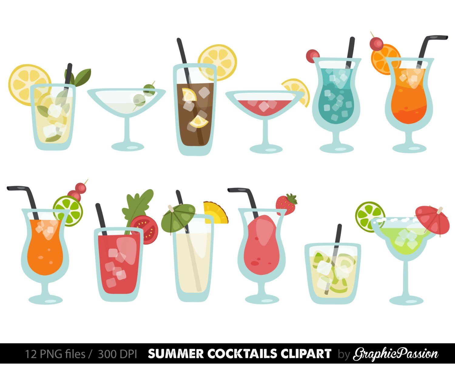 Party cocktail. Clipart station