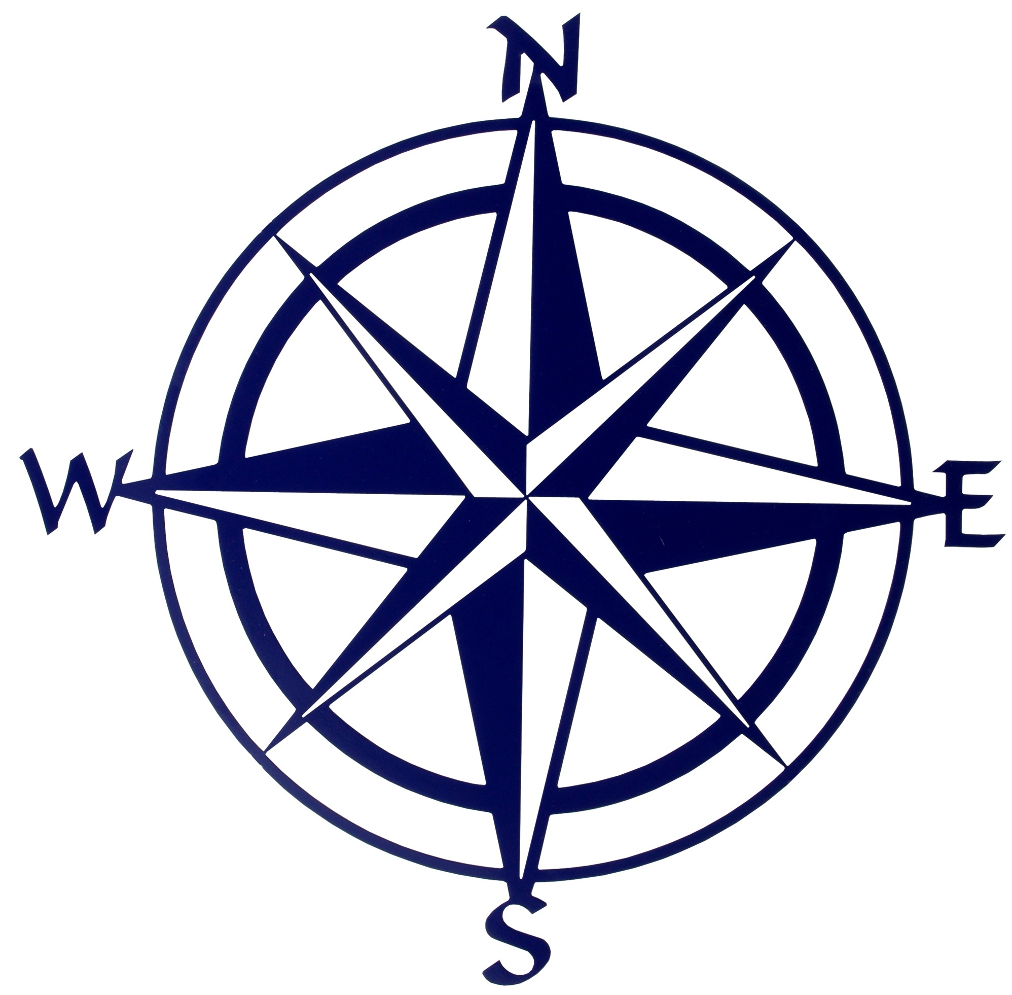 Compass white. Clipart black and pencil