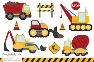 construction trucks clipart 4