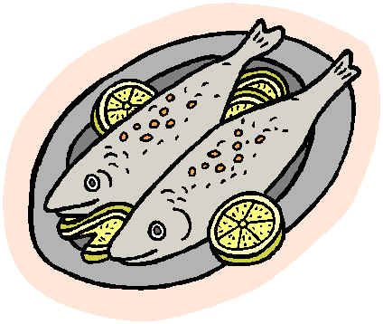 Fish cooked. Clipart station